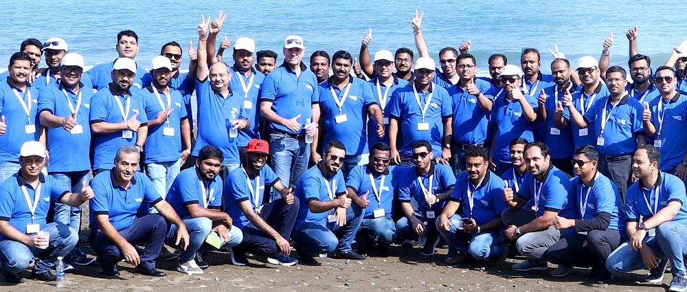 National Detergent Company holds beach cleanup drive in Sohar logo